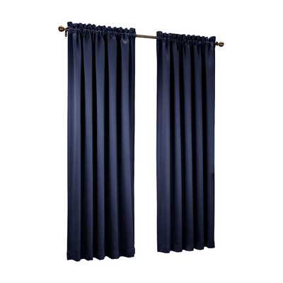 "Groton Single Curtain Panel - Navy - 63""L - Wayfair"