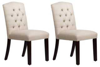 Talc Leo Tufted Side Chairs - One Kings Lane