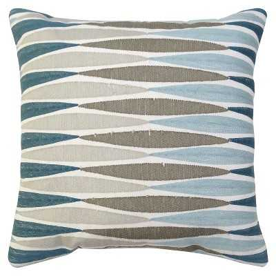 "Thresholdâ""¢ 18""L x 18""W Ikat Embroidered Pillow-with insert - Target"