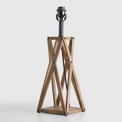 Wood X Table Lamp Base - World Market/Cost Plus