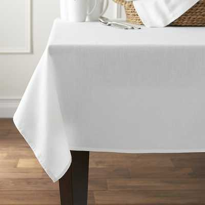 "Abode White 60""x120"" Tablecloth - Crate and Barrel"