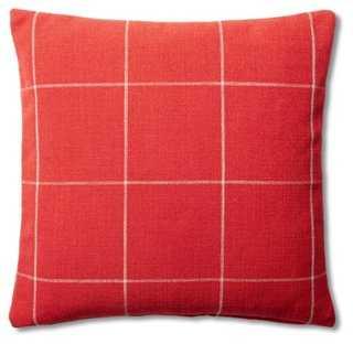 Window Pane Cotton Pillow - One Kings Lane