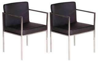 Black Glendale Dining Chairs, Pair - One Kings Lane