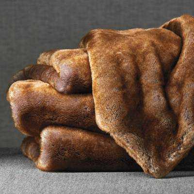 Luxury Faux Fur Throw - Chinchilla - Frontgate