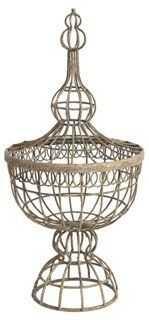 Wire-Basket Finial - One Kings Lane