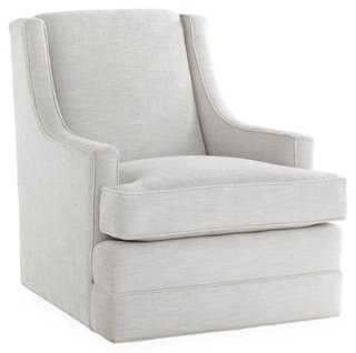 Berkley Swivel Swoop-Arm Chair - One Kings Lane