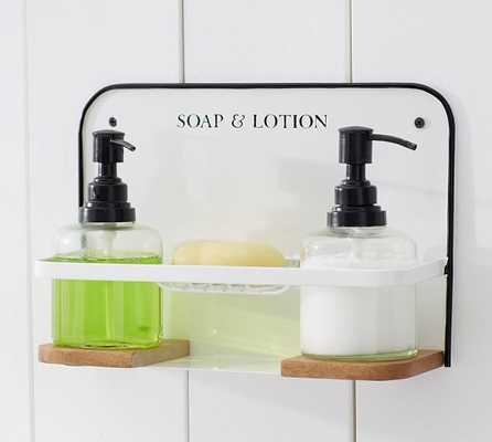 Enamel Soap & Lotion Caddy - Pottery Barn