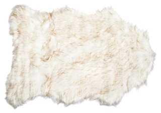 Gordon Faux-Sheepskin Rug, Brown - One Kings Lane