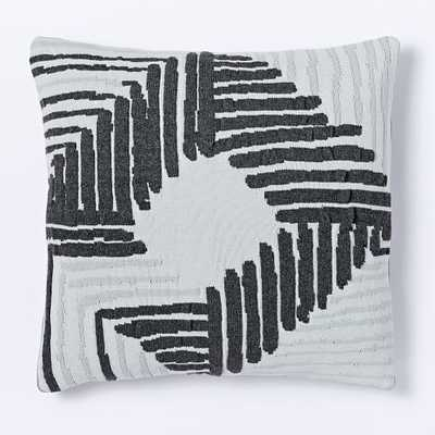 Abstract Diamond Knit Pillow Cover - West Elm