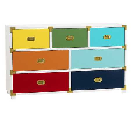 Gemma Campaign Extra Wide Dresser - Pottery Barn Kids