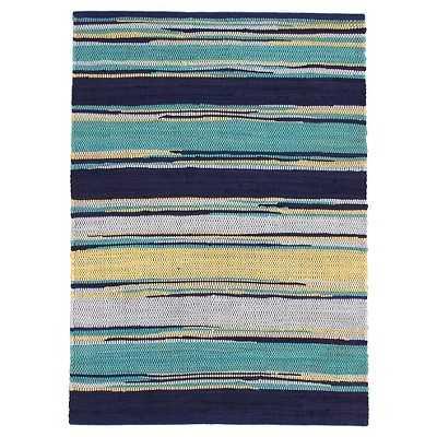 Blue Chindi Stripe Accent Rug - Target