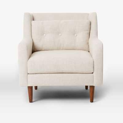 Crosby Armchair - Pebble Weave, Oatmeal - West Elm