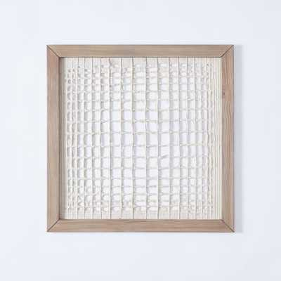 Framed Handmade Paper Wall Art - Overlapping Lines - West Elm