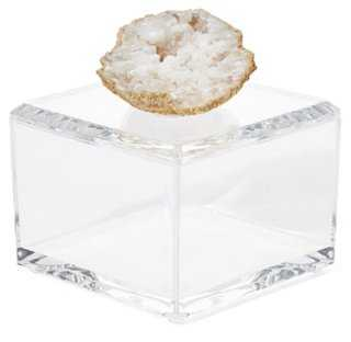 Small Acrylic Box w/ Crystal Geode - One Kings Lane