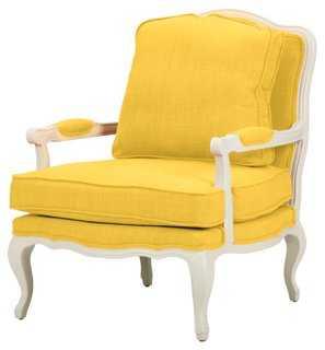 Agatha Accent Chair, Yellow - One Kings Lane