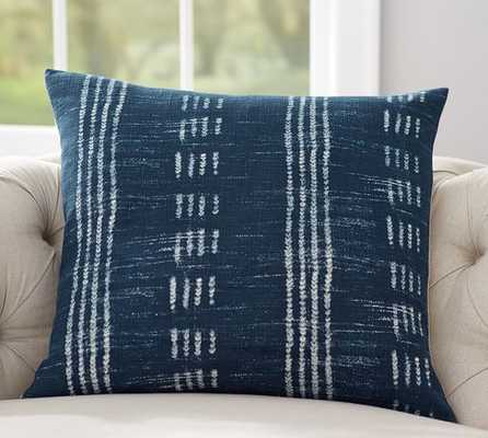 "Shibori Dot Print Pillow Cover- Blue- 24"" sq- Insert sold separately. - Pottery Barn"