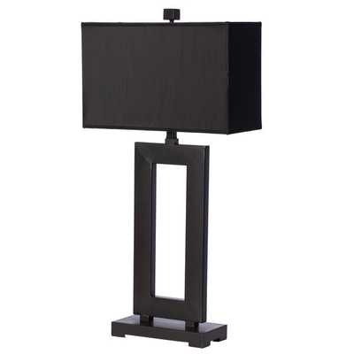 Mocha Metal Table Lamp with Dark Shade - Overstock