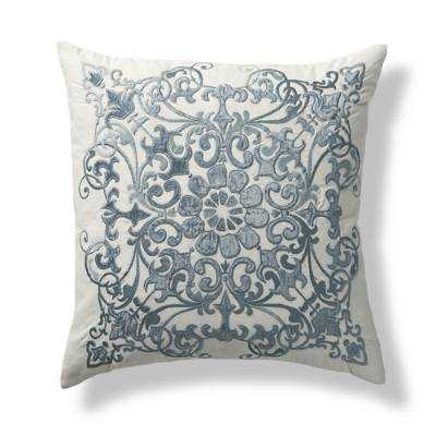 """Rousseau Decorative Throw Pillow - 20""""sq - Feather/down insert - Frontgate"""