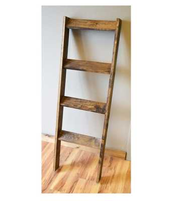 Rustic Weathered Blanket Ladder - Etsy