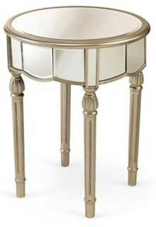 Emilia Mirrored Side Table, Silver - One Kings Lane