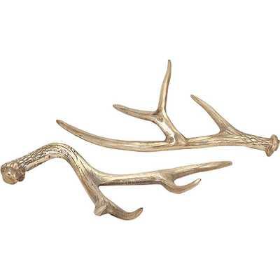 2 Piece Hodge Gold Deer Antler Set - Wayfair