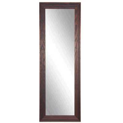 American Made Rayne Barnwood Brown Slender Body Mirror - Overstock
