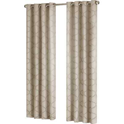 "Amara Window Single Curtain Panel-84""-Tan - Wayfair"