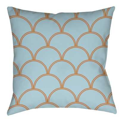 Art Deco Circles Indoor/Outdoor Throw Pillow - Wayfair
