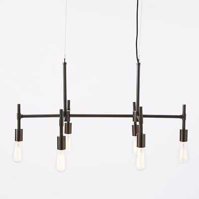Industrial Chandelier - Rectangle - West Elm