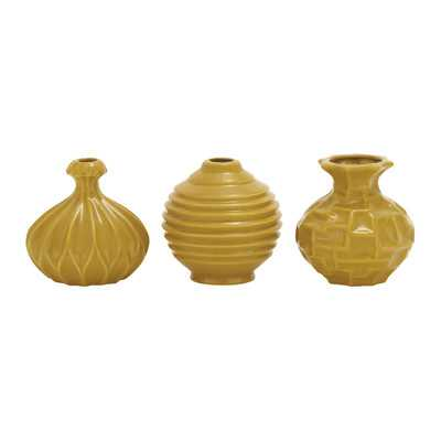 Sawyer 3 Piece Table Vase Set - Brownish Yellow - Wayfair