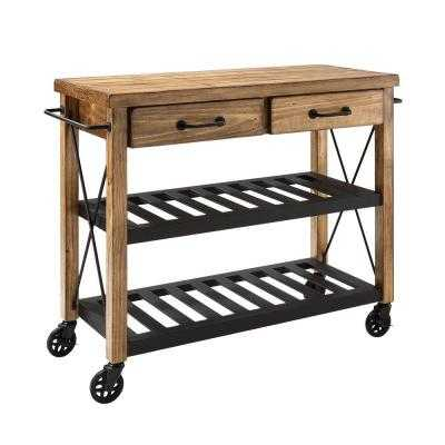 Roots Rack Industrial Kitchen Cart in Natural - Home Depot