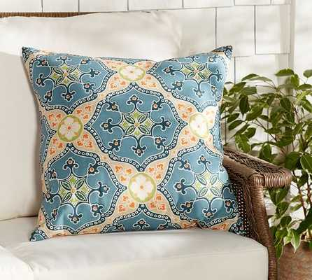"EUGENIA INDOOR/OUTDOOR PILLOW- 22"" sq- Polyester fill insert - Pottery Barn"