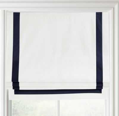"Appliquéd frame cotton canvas roman shade- 32"" - RH Baby & Child"