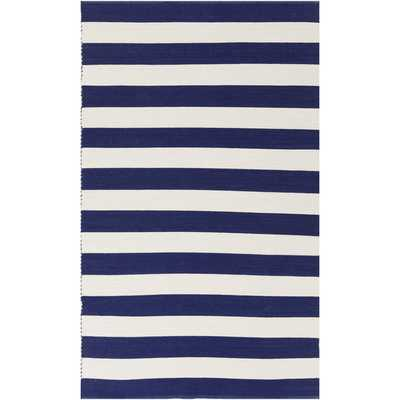 Hand-Woven Stacy Stripe Cotton Rug (8' x 10') - Overstock