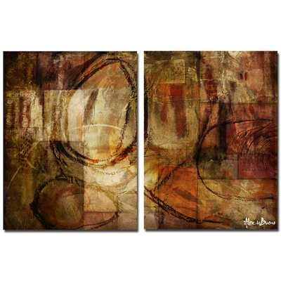 Bueno 'Abstract' Wall Art (Set of 2) 40 x 30x 2 Unframed - Overstock