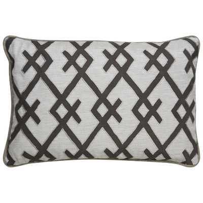 "Geometric Pattern Throw Pillow - 24"" H x 16"" W - Poly Filled - Wayfair"
