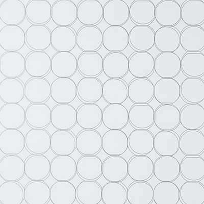 orbit small metallic self-adhesive wallpaper - CB2