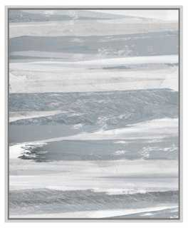 "Cynthia Alvarez, Silver Hues I-28'75""x37'75""-Framed - One Kings Lane"
