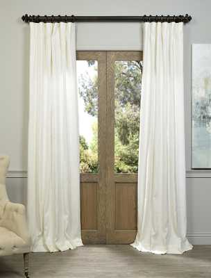 "Ivory French Linen Curtain - 96""L - halfpricedrapes.com"