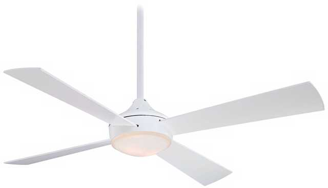 "52"" Minka Aire Aluma Flat White Ceiling Fan - Lamps Plus"