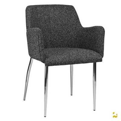 Palma-4 Wool Arm Chairs with Chrome Legs - AllModern