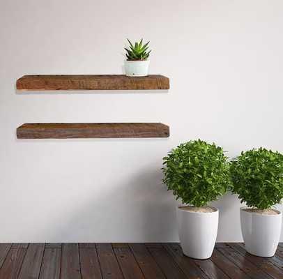 Reclaimed barn wood floating shelf - Etsy