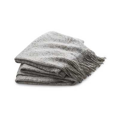 Weldon Taupe Throw - Taupe - Crate and Barrel