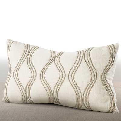 Chauran Cirque Ivory Lumbar Pillow - 10x18, With Insert - Overstock
