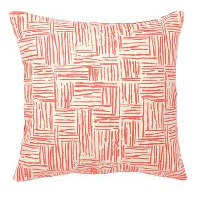 """Hatch Pillow in Persimmon - 20"""" - with insert - Domino"""