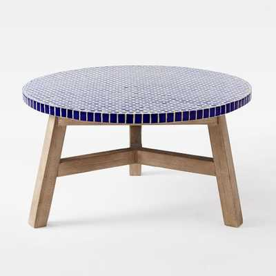 Mosaic Coffee Table - Blue Penny- Driftwood - West Elm