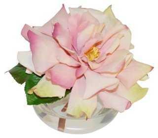 "7"" Rose in Vase, Faux - One Kings Lane"