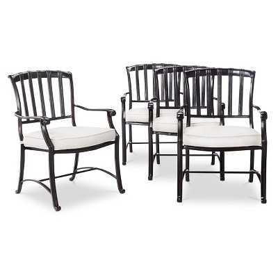 Premium Kentfield 4-Piece Aluminum Patio Dining Chair Set - Target