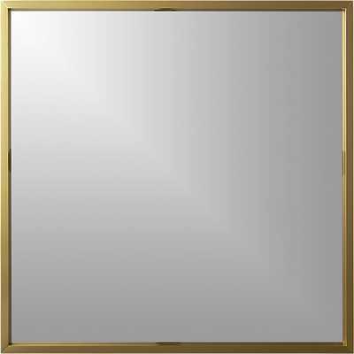 "Gallery 33"" brass wall mirror - CB2"