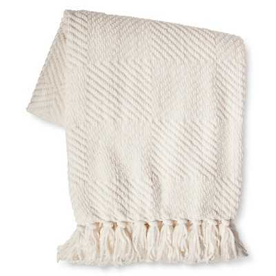 Chenille Diamond Throw - Cream - Target